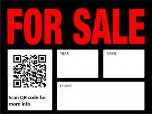 QR - car sale