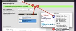 QR signature - email template generator